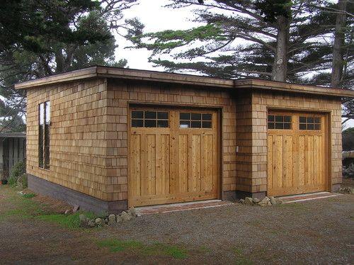 Flat roof like the cottage gowar garage pinterest for Cottage style garage plans