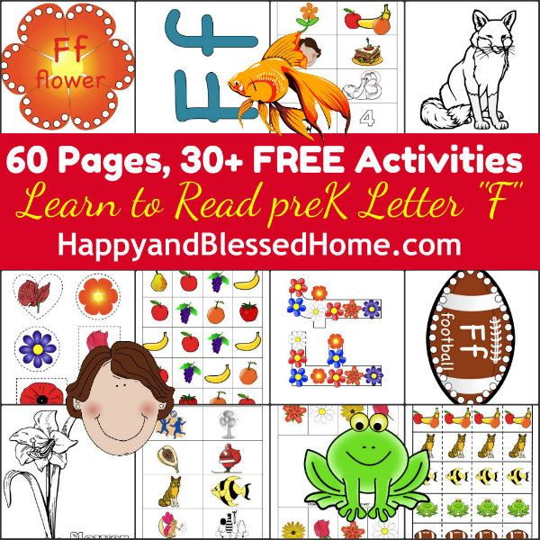 Free 60 pages with 30 preschool activities from our learn to read