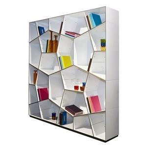 groovy modern geometric bookcase  DIY Wannabe  Pinterest