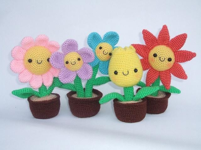 Flowers Amigurumi crochet sweets Pinterest
