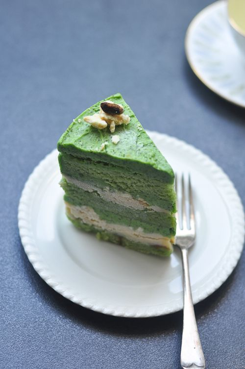 Pistachio Cake, Lemon Curd, Milk Crumbs   sweets   Pinterest