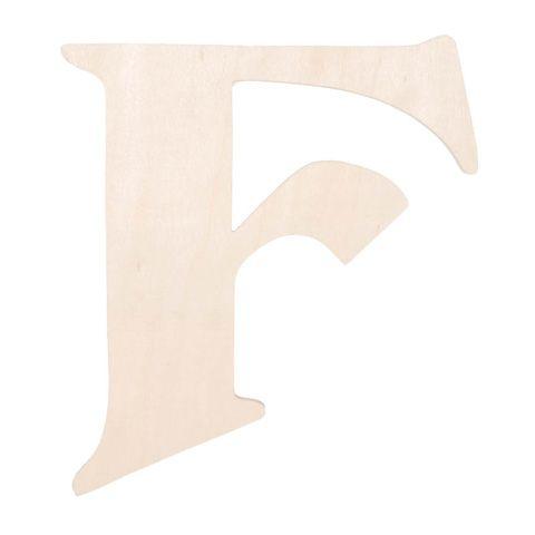 Unfinished Wood Fancy Letter F