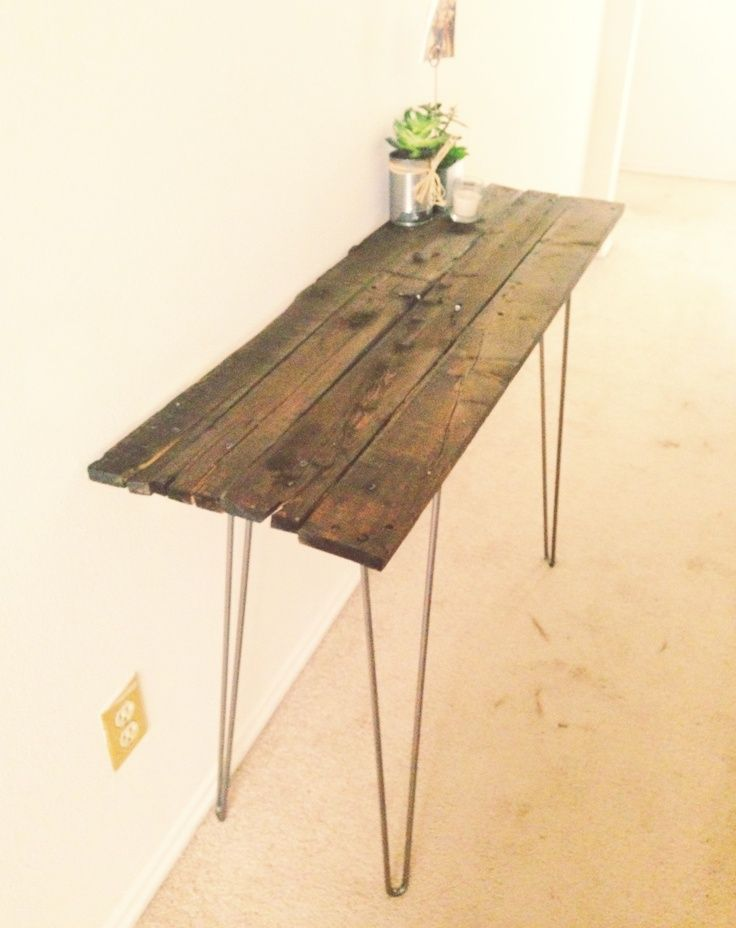 DIY reclaimed wood side table | For the Home | Pinterest