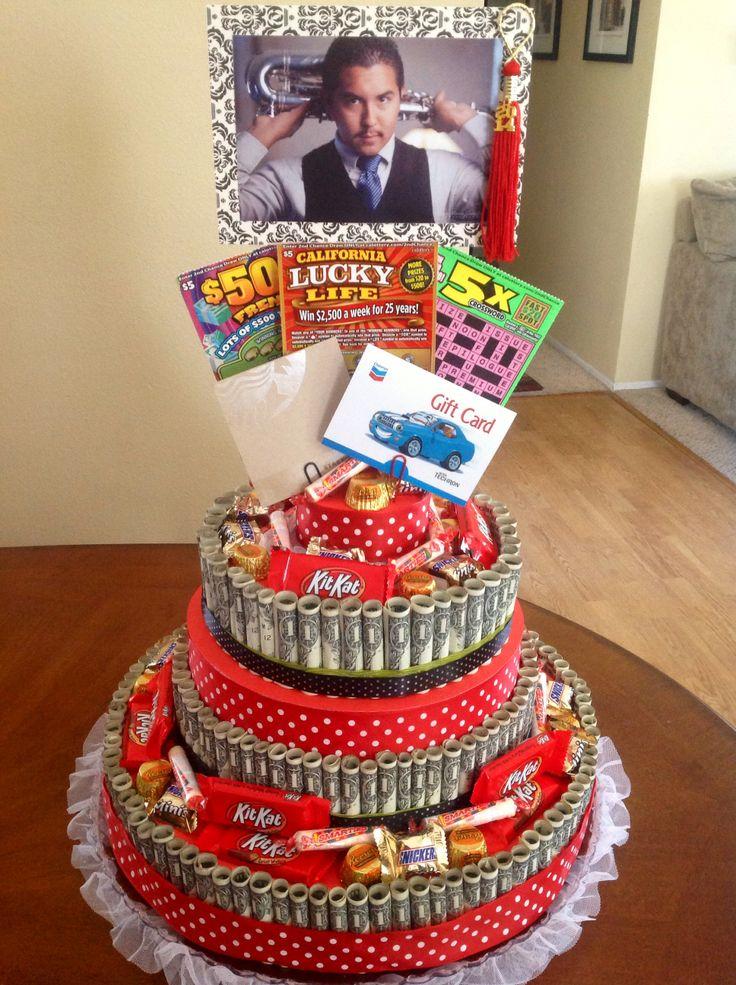 Graduation money cake birthday party pinterest - Money cake decorations ...