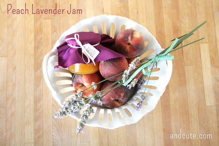 Homemade Peach Lavender Jam