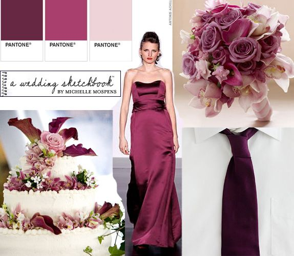 Sangria colors for cake, dress, and flowers