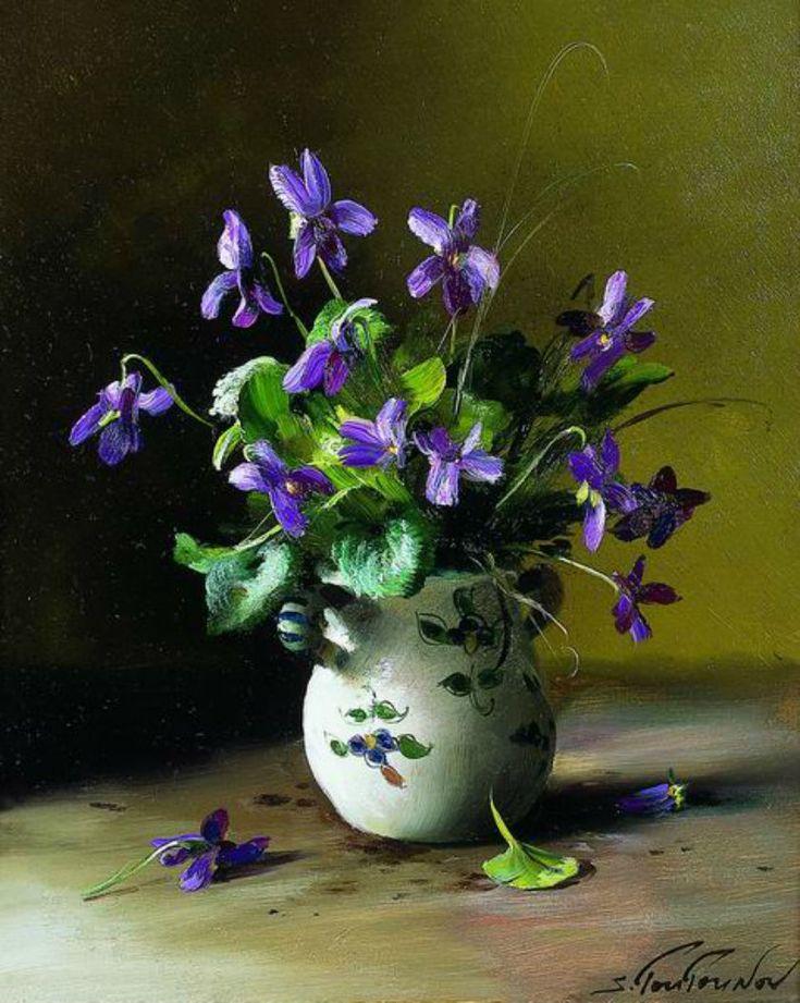 Sergei Tutunov —  Violets   (840×1052)