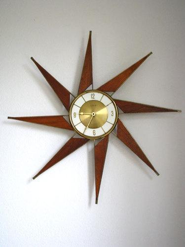 mid century danish modern wall clock 1960s eames era