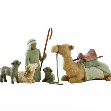 Willow Tree Nativity Set - Shepherd and stable animals