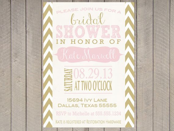 Blush Pink Gold Vintage Bridal Shower Invitation Baby Typography ...
