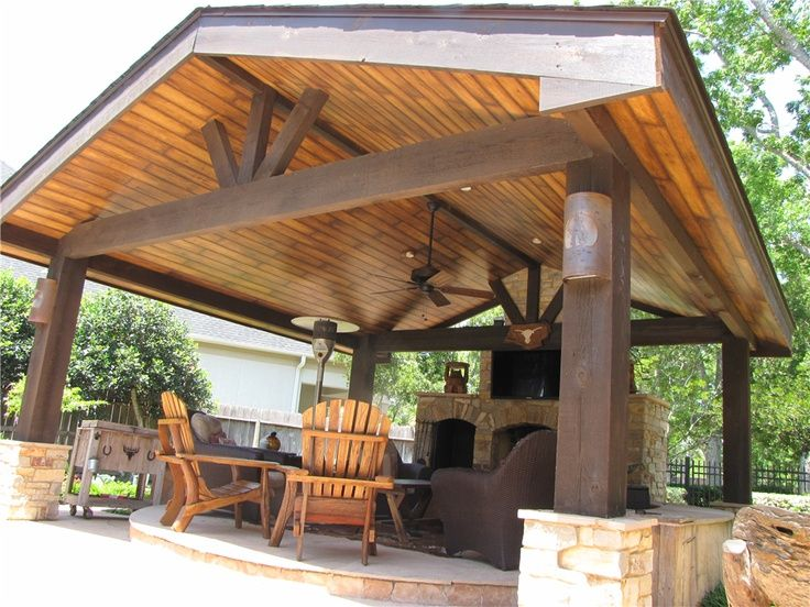 Patio roof patio roof tie in for Stand alone carport designs