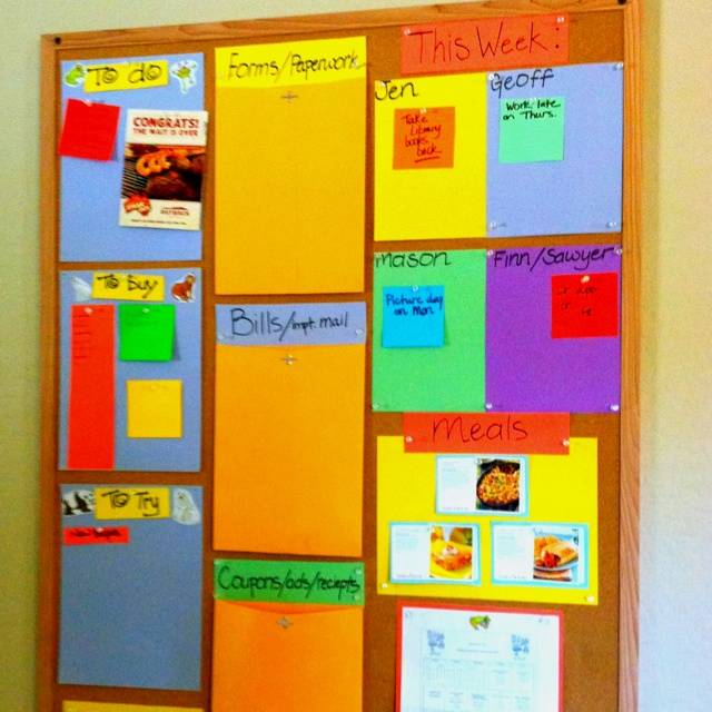 organization bulletin board