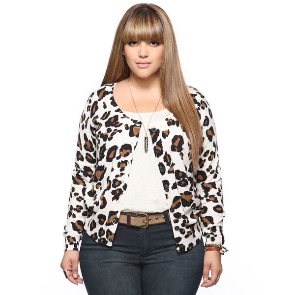 Leopard Print Cardigan Forever 21 - Gray Cardigan Sweater