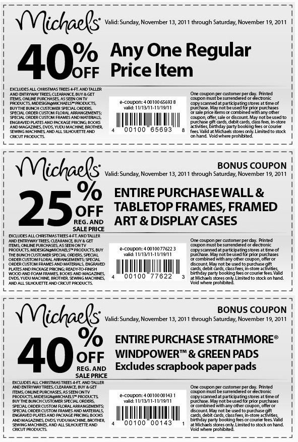 Michaels 40 discount coupon