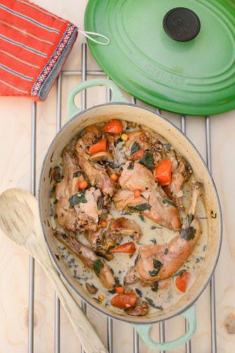 Küülikupada/Rabbit stew with mushrooms, sage and buckthorn berries