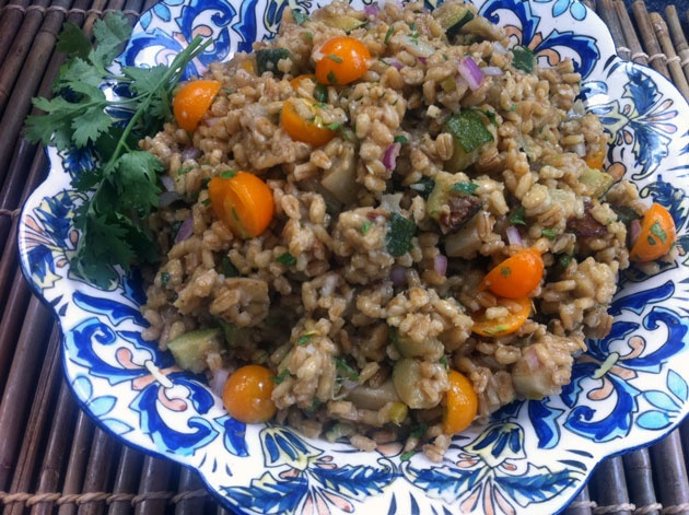 Mediterranean Eggplant and Barley Salad | Toss It - Salads | Pinterest