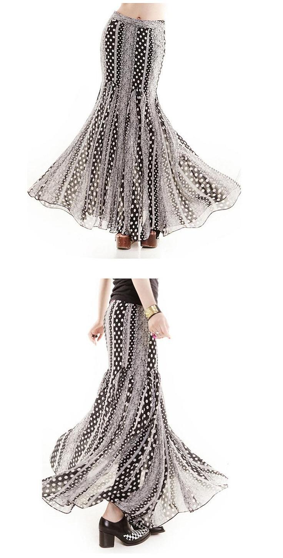 Long skirts chiffon skirt half skirt http fashion4us com 83 44