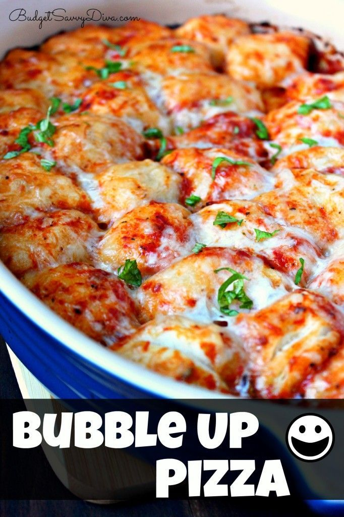 Bubble Up Pizza Recipe | food for the kids | Pinterest