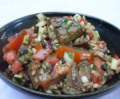 ... Kirsten's Kitchen to Yours: Mediterranean Eggplant and Barley Salad