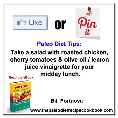 Take a salad with roasted chicken, cherry tomatoes & olive oil / lemon ...