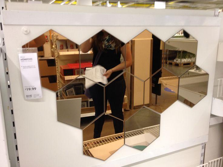 beehive mirror tiles
