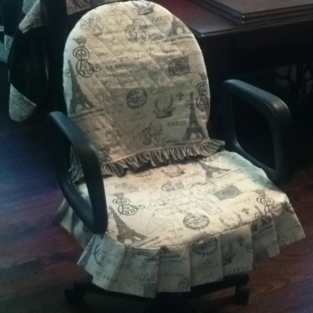 No more ugly office chair! | quilts | Pinterest