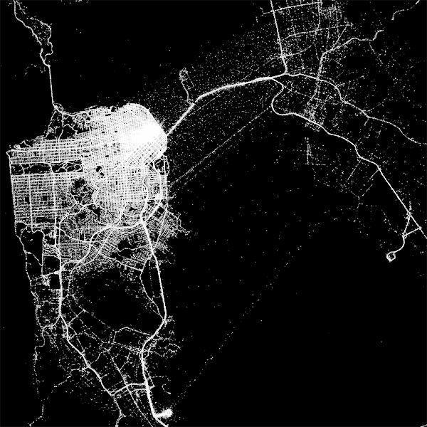 Eddie Elliott's gorgeous studies on Cabspotting data, from a while ago