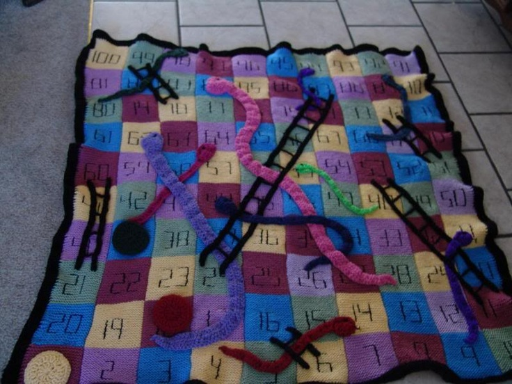 Crocheting Games : Knitted/crocheted game board afghans - Homemade Memories - MrsSurvival ...