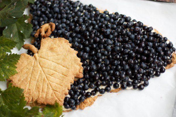 Lavender-Grape Tart Recipe — Dishmaps