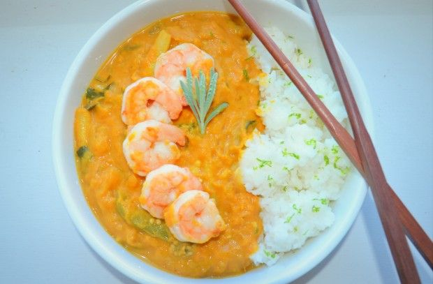Pumpkin Shrimp Curry via Hostess Wars | Yummy | Pinterest