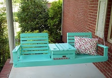 Porch Swing with Drink Holders...