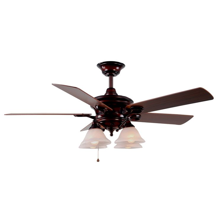 ... 52-in Bellhaven Rustic Bronze Ceiling Fan with Light Kit at Lowes.com