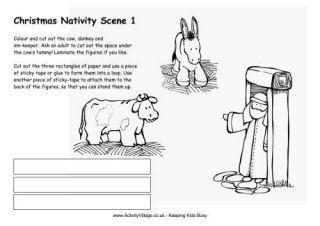 Imprimibles Escena de la natividad