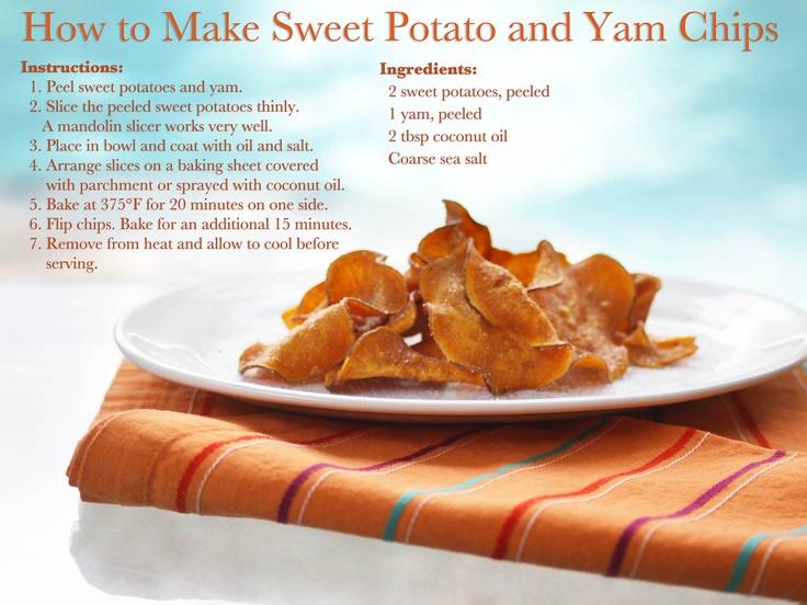 Homemade Sweet Potato chips! | Foody! | Pinterest