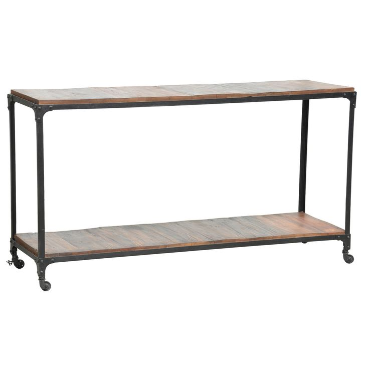 Larry Reclaimed Wood And Iron Console Table
