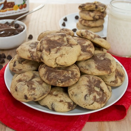 Peanut Butter Nutella Swirl Chocolate Chip Cookies {Sweet Pea's ...
