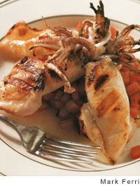 Stuffed Calamari on the Grill by Mario Batali