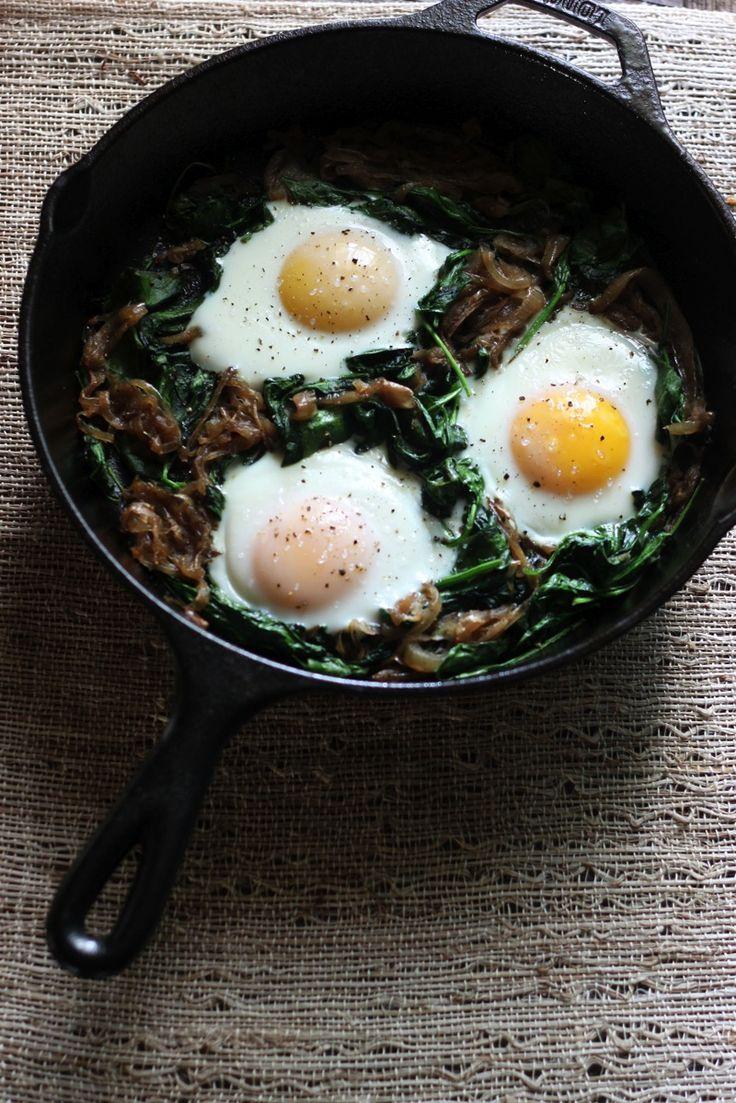 Power greens breakfast skillet