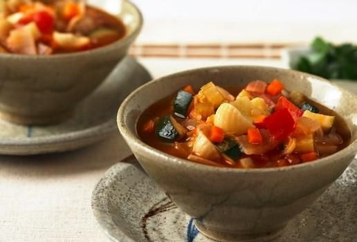 Thick Vegetable and Pasta Soup | Let's Eat Vegetarian | Pinterest