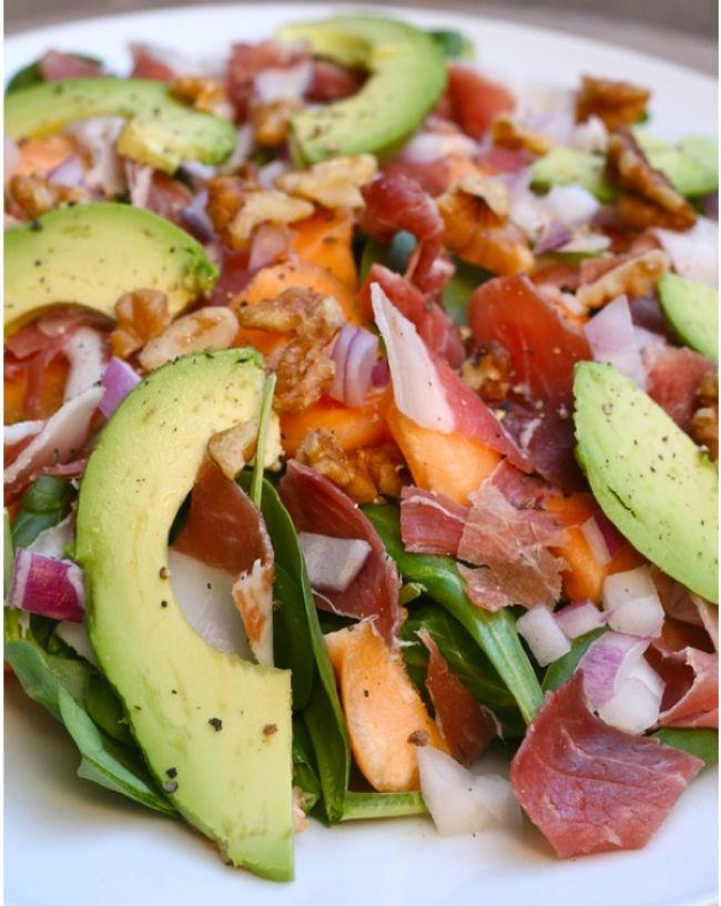 Prosciutto-Melon-and-Avocado-Salad | Salads | Pinterest