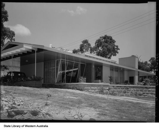 1950s house western australia mid century residential for Architecture 1950