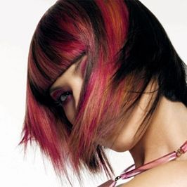 Brunette Hairstyles with Red Highlights | Hair | Pinterest