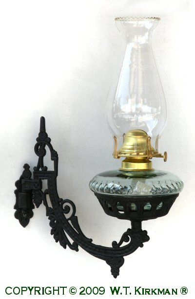 Iron Wall Brackets For Lamps : Cast Iron Wall Bracket Oil Lamp Antique/Glass/other things I like