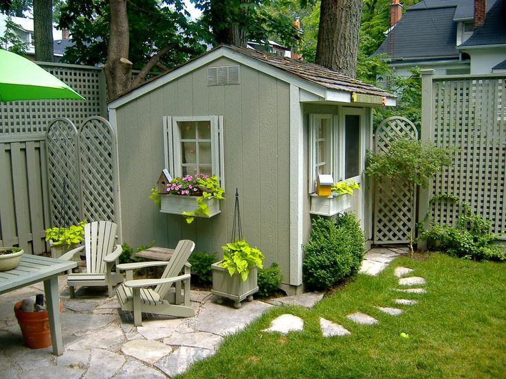 Pretty little shed Mill Cottage Garden Ideas Pinterest