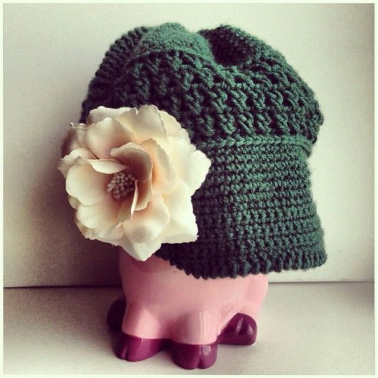 Crochet Hat - Green crochet hats and hair bands Pinterest