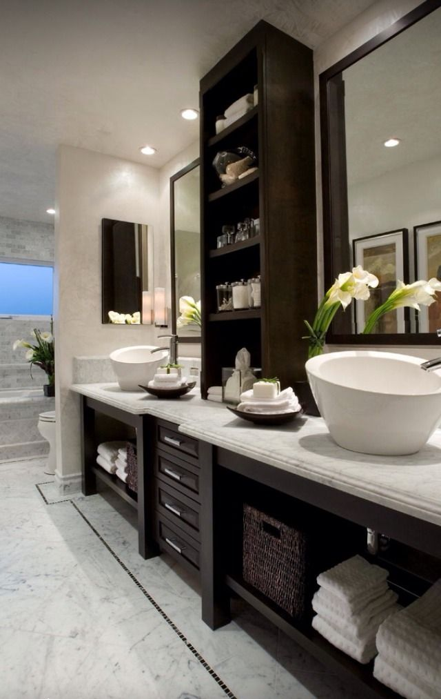 Built in bathroom cabinets for the home pinterest for Different bathrooms
