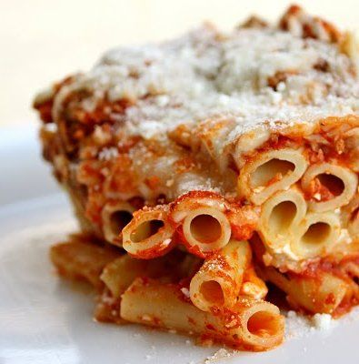 Recipe For Baked Rigatoni with Meat Sauce