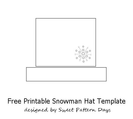 Snowman Top Hat Template | New Calendar Template Site