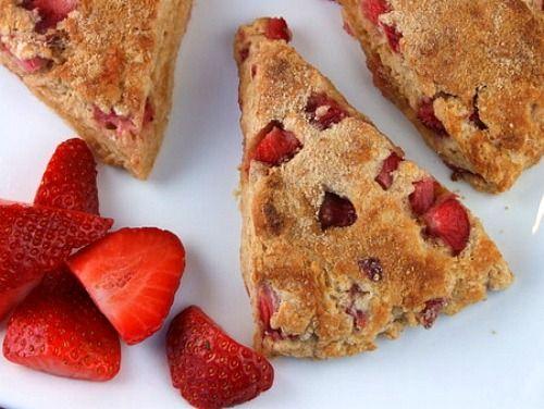 Whole Grain Strawberry Scones | Recipe