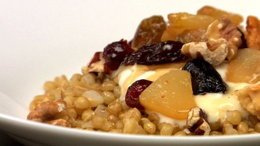Wheat Berry Breakfast Bowl Recipe Text | Rouxbe Cooking School | Yummy ...